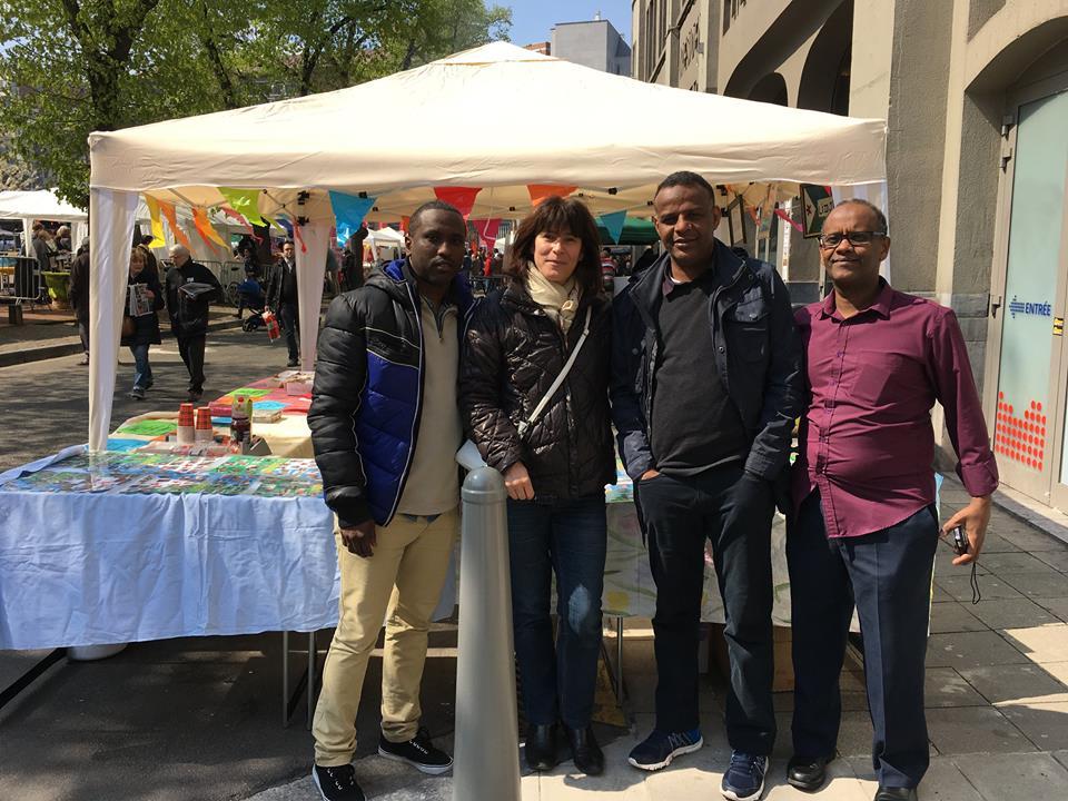 1 mai 16 avec les amis Djiboutien au Stand de LîDjibouti
