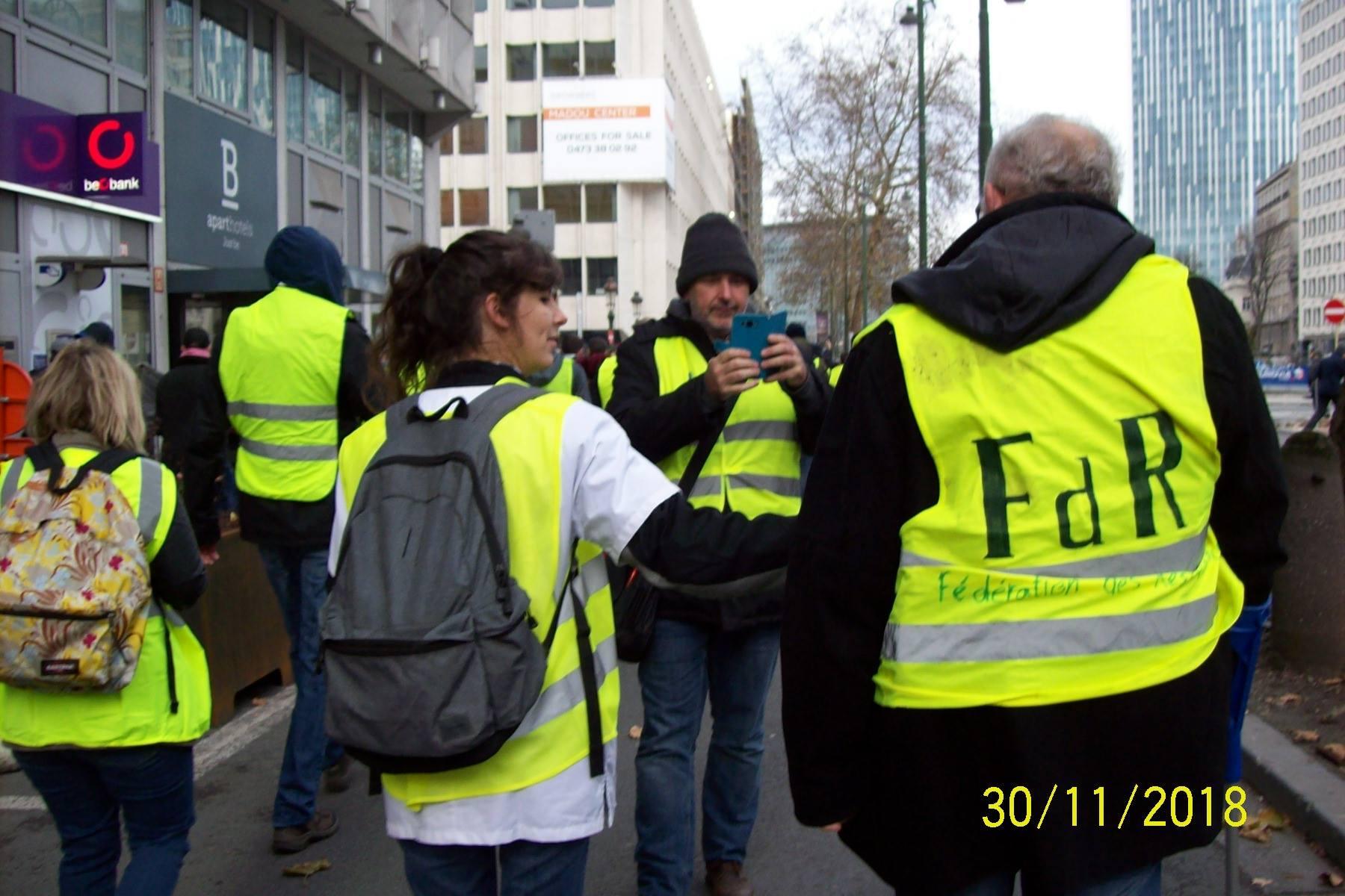 30 novembre 2018 près d'Arts-Loi à BXL (photo : A. Letecheur)