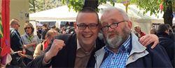 1er mai 2016 à Liège avec Raoul Hedebouw (PTB)