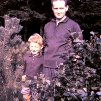 avec mon père en 1962 du côté de Spa