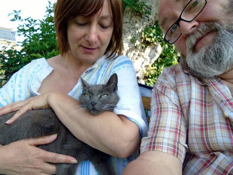 2 août 2015 avec Annick et Mimi au jardin d'Houtain