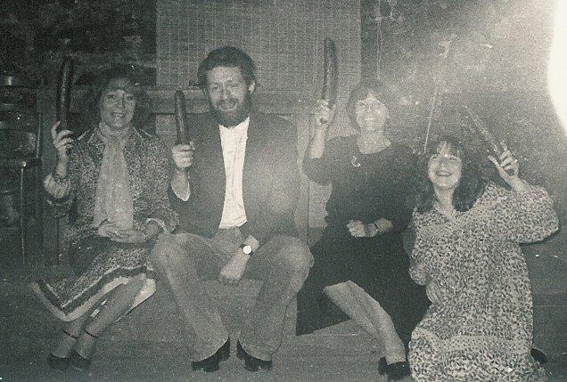 1980 avec Claire H., Arlette B. et Joëlle P.