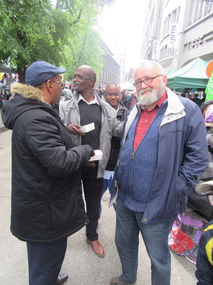 1er mai 2018 à Liège au stand de LîDjibouti