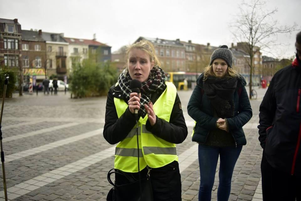 Cyrika (Stéphanie) porte paroles des GJ de Liège