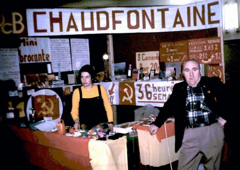 Novembre 1976 à Seraing, fête du PCB