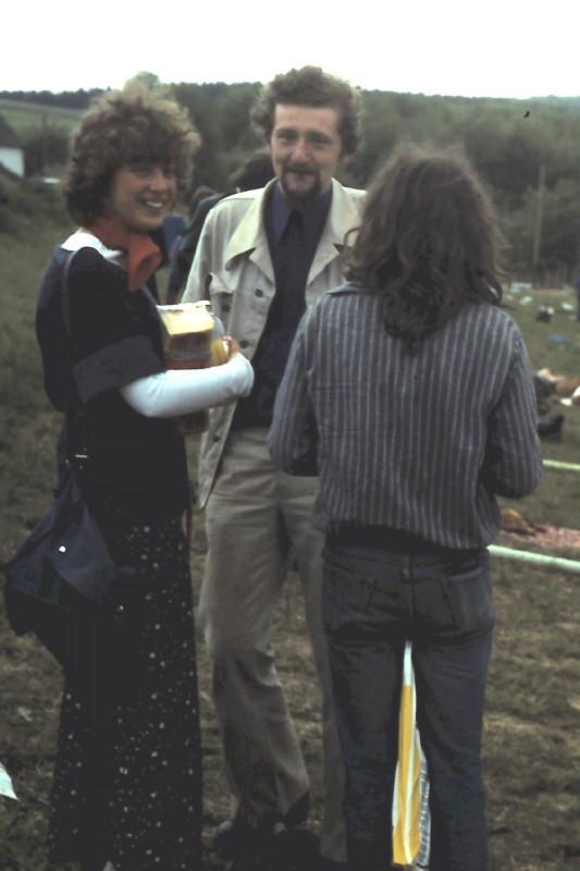 Avec Brigitte à Ergste en juin 1977