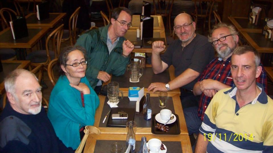 Photo de famille à BXL après une manif