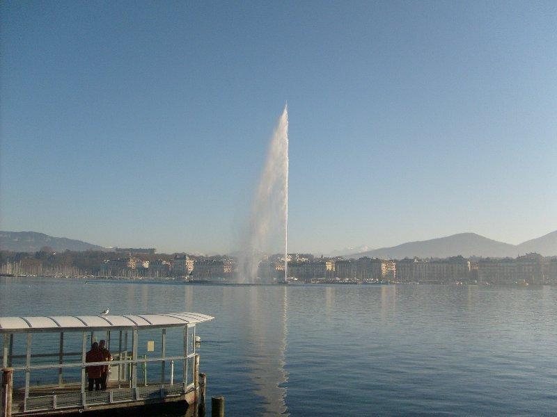 Le jet d'eau du Lac Léman à Genève