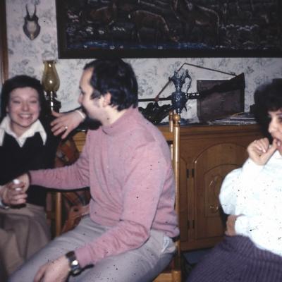 Réunion du PCB Chaudfontaine fin 76 avec Patricia, Ivan et Malika