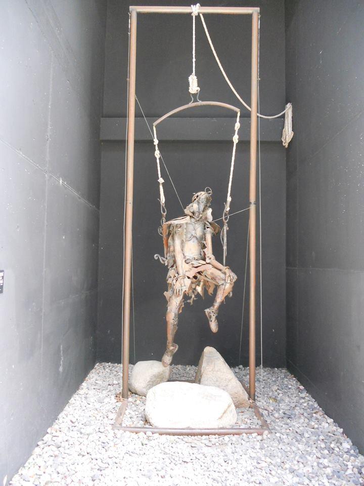 Sculpture à Andorre la Vieille 21 mai 2015