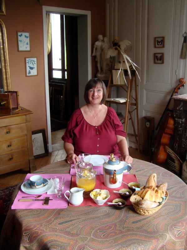 Notre table de petit-déjeuner au 1er étage rien que pour nous