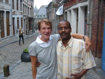Avec Ibrahim devant la Casa Nica