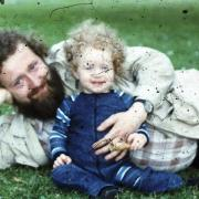 Avec Gaëlle en 1982