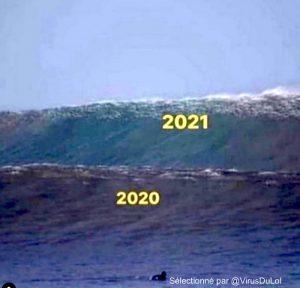 Humour meme couvre feu deuxieme vague covid 2021 300x288