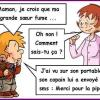 Toto soeur fumer pipe maman humour drole